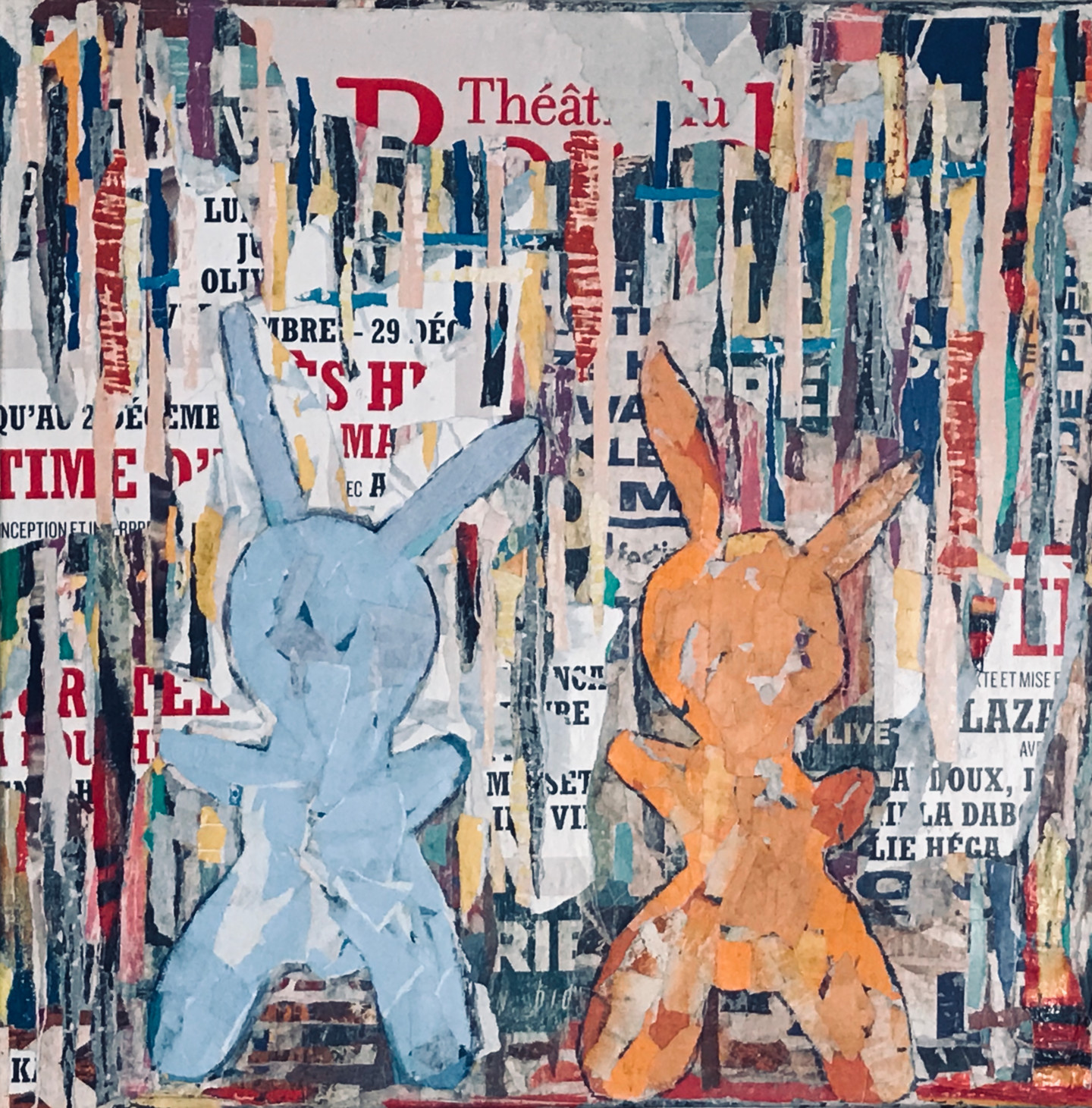 Dominique Kerkhove (DomKcollage) - 2 Rabbits in the City - 2 -