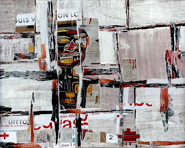 Dominique Kerkhove (DomKcollage) - Basquiat on the walls of Paris - 1 -