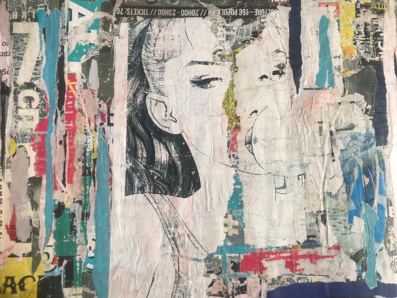 Dominique Kerkhove (DomKcollage) - Blue Bubble Girl