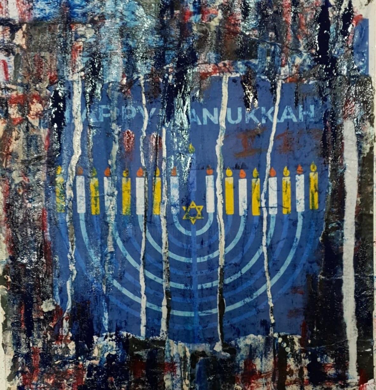 Dominique Kerkhove (DomKcollages) - Happy Hanukkah